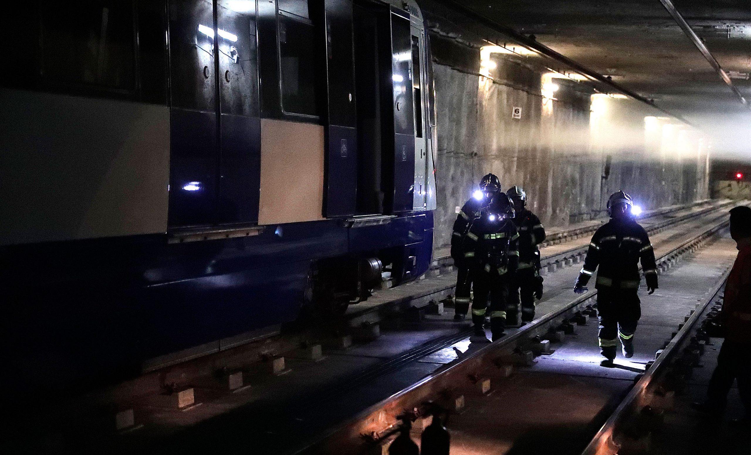 Simulacro de incendio en el metro de Madrid